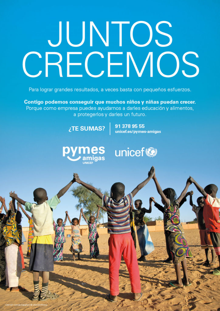 Cartel Pymes Amigas de UNICEF Comité Español