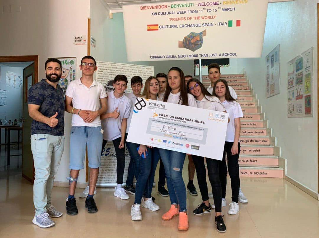 Volvemos a ganar el premio Embarkatubers en la 2ª edición de este programa de emprendimiento en el aula, en el que han participado casi 3000 alumnos de la Región
