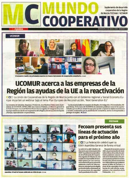 UCOMUR acerca a las empresas de la Región las ayudas de la UE a la reactivación