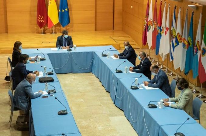 Juan Antonio Pedreño participa en un encuentro celebrado en el Palacio de San Esteban el 1 de septiembre 2020
