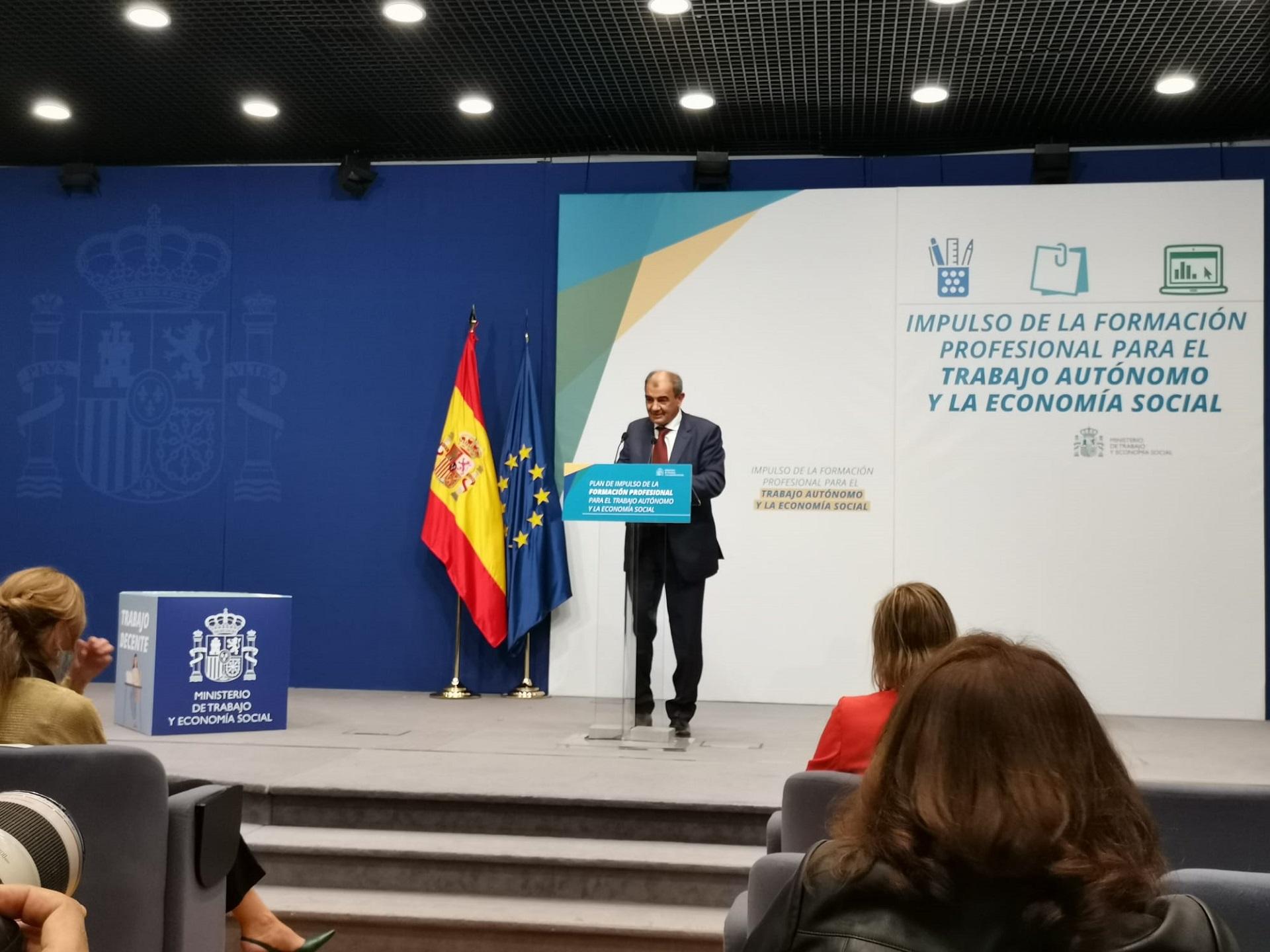 Presentado el Plan de Impulso de la Formación Profesional del Trabajo Autónomo y la Economía Social