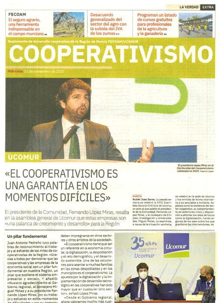 El cooperativismo es una garantía en los momentos difíciles
