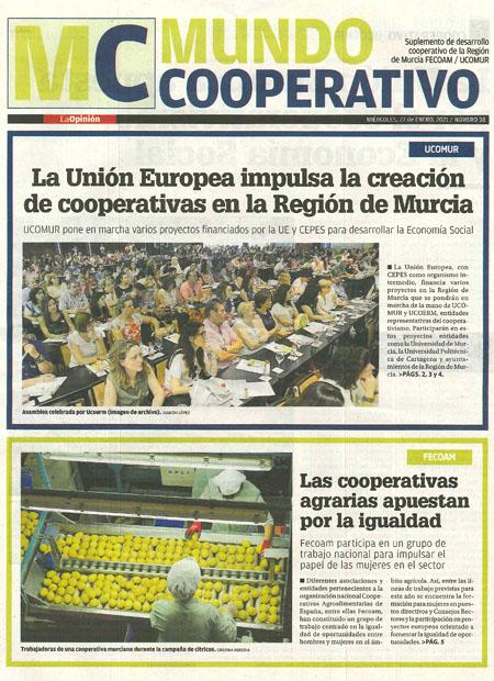 La Unión Europea impulsa la creación de cooperativas en la Región de Murcia