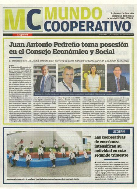 Juan Antonio Pedreño toma posesión en el Consejo Económico y Social