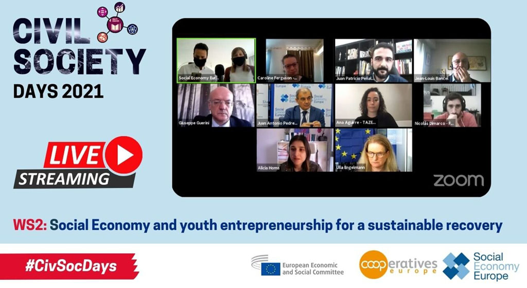 Social Economy Europe celebra un evento sobre economía social y emprendimiento juvenil