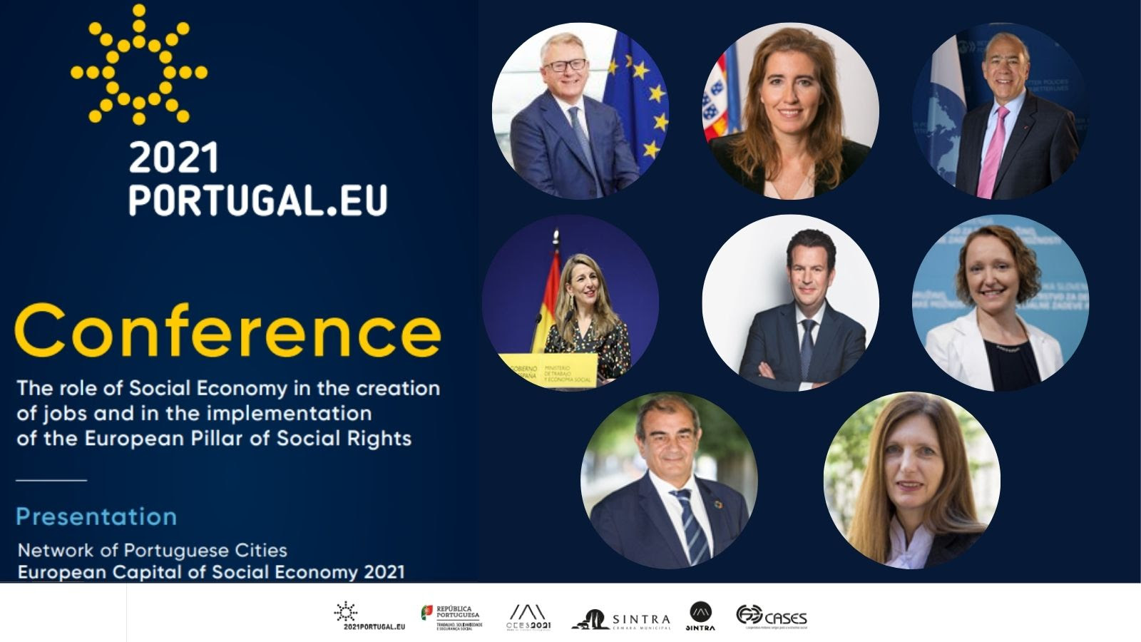 Lunes 29 de marzo Conferencia de la Presidencia portuguesa sobre economía social y pilar social