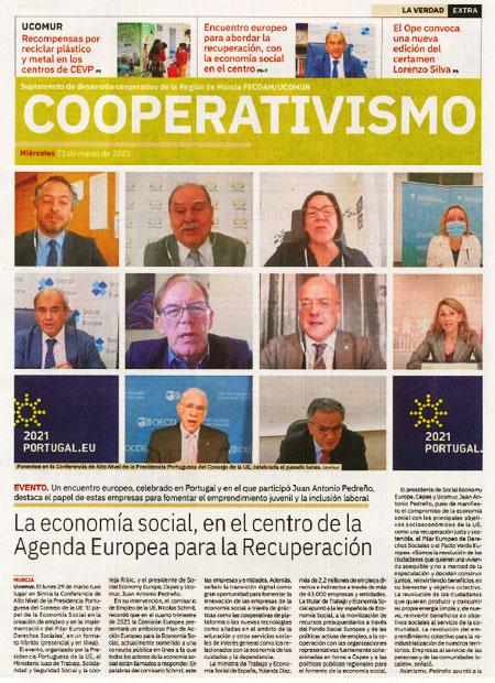 La Economía Social, en el centro de la Agenda Europea para la Recuperación