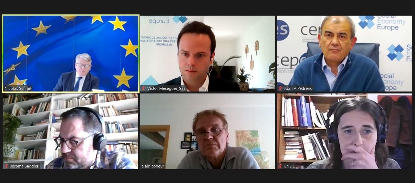 Juan Antonio Pedreño y el Comisario Europeo Nicolas Schmit acuerdan un Plan de Acción de Economía Social para acelerar el desarrollo de estas empresas y entidades