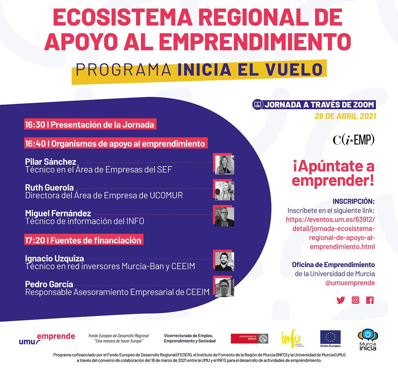 Ucomur participa en el programa 'Inicia el Vuelo' de apoyo al emprendimiento