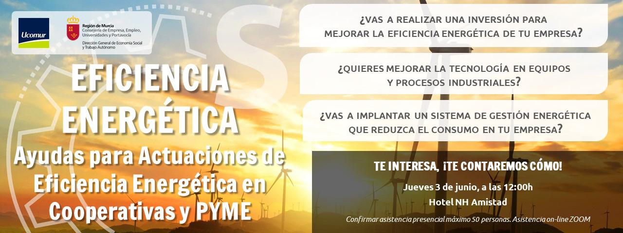 EFICIENCIA ENERGÉTICA Ayudas para Actuaciones de Eficiencia Energética en Cooperativas y PYME UCOMUR
