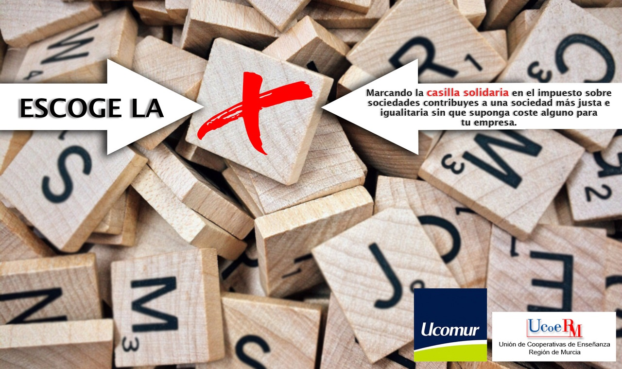 Ucomur y Ucoerm animan a sus asociados a sumarse al movimiento en favor de la casilla solidaria con la campaña Escoge la X